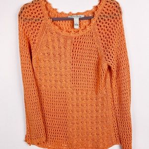 French Laundry Crochet Long Sleeve Size L